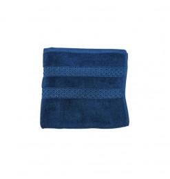 Serviette bleue velours...