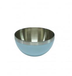 Saladier en inox bleu 19cm