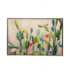 Tableau déco motif cactus vert
