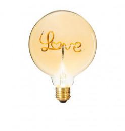 """Ampoule Led mot """"LOVE"""" ambrée"""