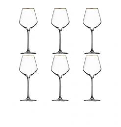 Verre à vin cristallin or...