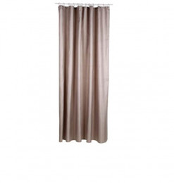 Rideau douche polyester taupe