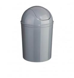 Poubelle salle de bain 7L gris