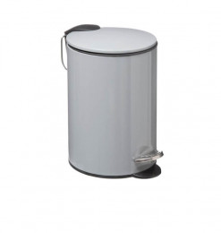 Poubelle salle de bain 3L gris