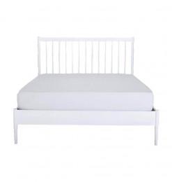 Lit blanc Prado 160X200cm -...
