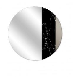 Miroir or noir marbré