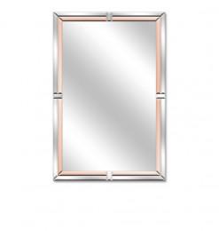 Miroir rose or rectangle