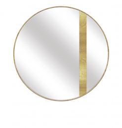 Miroir rond bande or