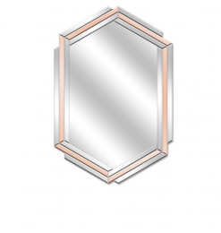 Miroir rose or
