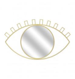 Miroir oeil metal or