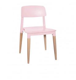 Chaise design enfant rose