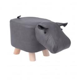 Tabouret hippopotame gris...