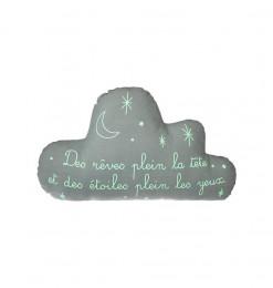 Coussin déco nuage enfant