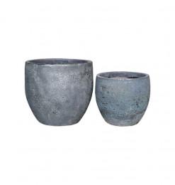 Pot en céramique gris - Lot...