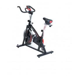 Vélo spinning 18kg noir rouge