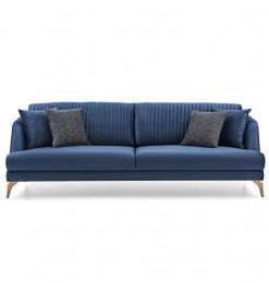 Canapé 4 places en tissu bleu