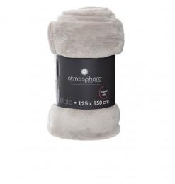 Plaid flanel uni gris clair