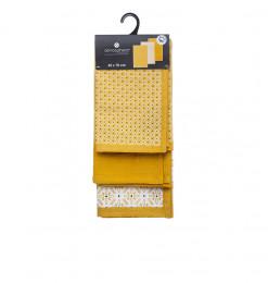Torchons en coton jaune -...