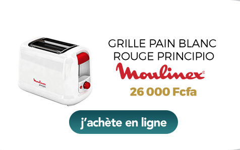 Grille pain blanc rouge Principio Moulinex