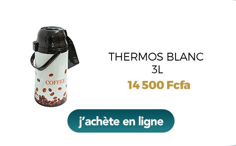 Thermos blanc 3L